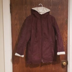 Sherpa lined coat with hood